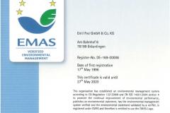 EMAS environment certificate