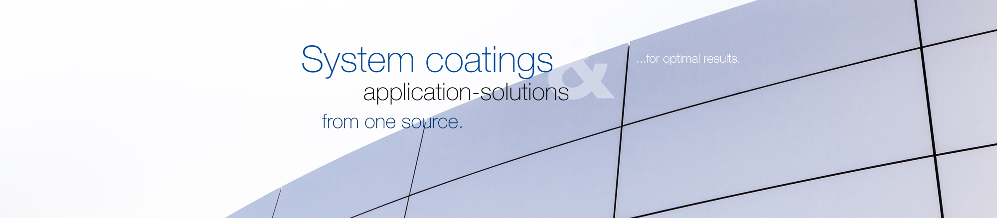 System coatings & application solutions from one source -for optimal results