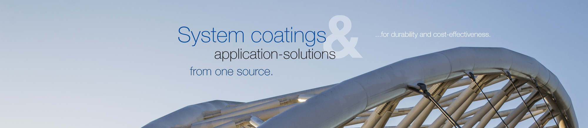 System coatings & application solutions from one source - for durability and cost-effectiveness