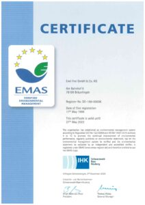 EMAS certification for environmental management